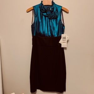 NW COLLECTION Teal and Black Dress Size 6 NWT